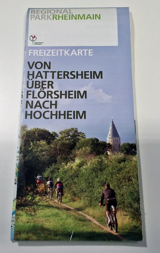 Regionalpark Freizeitkarte Hattersheim Floersheim Hochheim