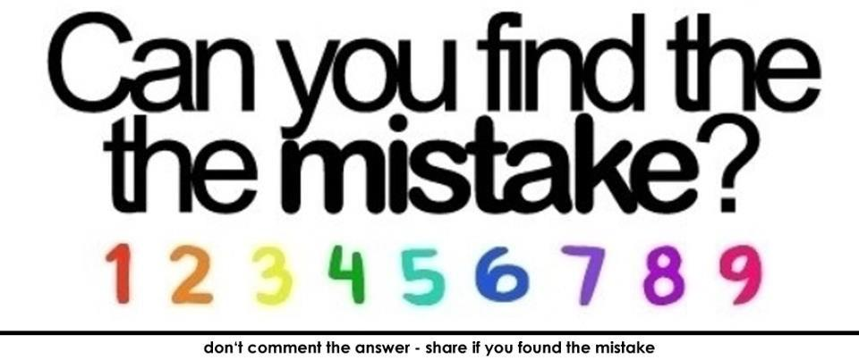 Can you find the mistake 123456789 deineip de