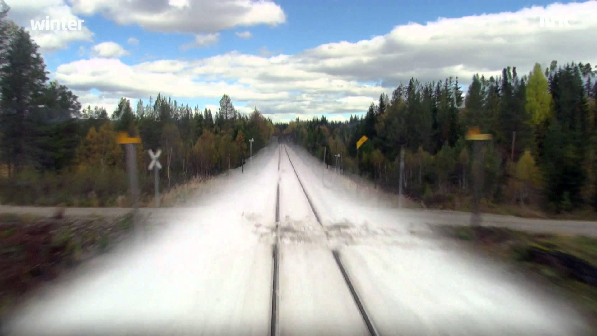 Eine Zugreise durch die Jahreszeiten