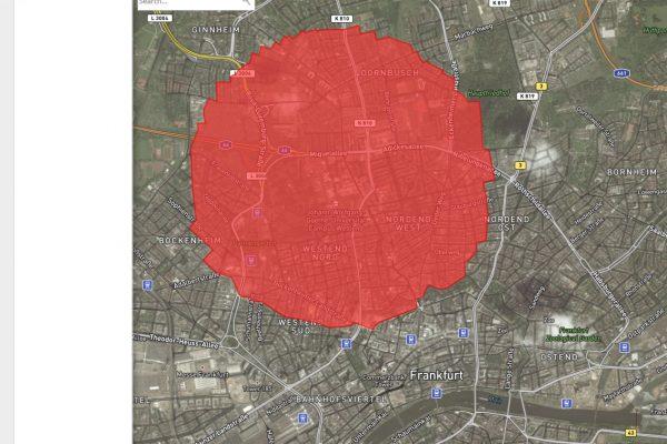 evakuierungszone bombe frankfurt scribblemap