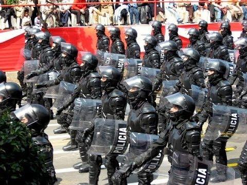 Polizei übt für die nächste Demo