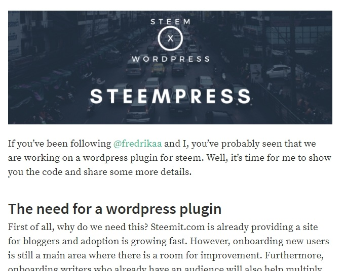 steempress screenshot