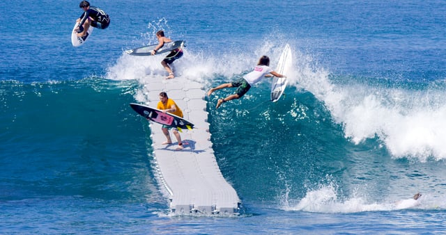 the dock surfen ohne laestiges a